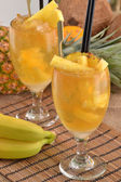 Pineapple cocktail drinks — Stock Photo