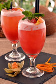 Fruit punch cocktail drink — Stock Photo