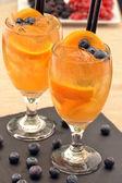 Orange cocktail drinks — Stock Photo