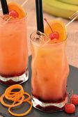 Orange cherry cocktail drinks — Stock Photo