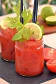 Bloody mary cocktail drink — Stock Photo
