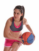 Young model playing basket ball — Foto Stock