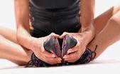 Fitness stretching latin woman — 图库照片
