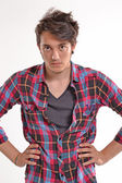 Young man hair style — Stock Photo
