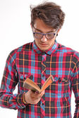 Student reading a book. — Stock Photo