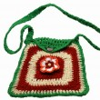Stock Photo: Fashionable knitted handbag