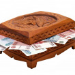 Casket with money — Stock Photo