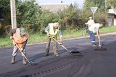 The repair of the road — Stock Photo