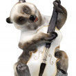Bear with a contrabass — Stock Photo