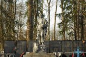 Monument to the Soviet soldier — Stock Photo