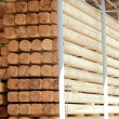 Warehousing cylindrical logs — Stock Photo #43475155