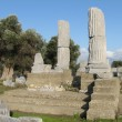 Stock Photo: Temenos of temple Dionysos in Theos (Turkey)