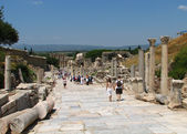 Promenade in Ephesus — Stock Photo