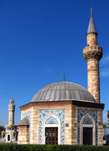 Mosque (Konak Camii) and Clock Tower (Saat Kulesi) — Stock Photo
