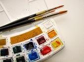 Watercolor paint set — Stock Photo