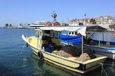Barche da pesca e yacht a izmir, turchia — Foto Stock