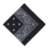 Black bandanna — Stock Photo