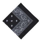 Black bandanna — Stock Photo