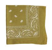 Mustard color bandanna — Stock Photo