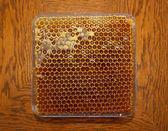 Mel em favo de mel 2 — Fotografia Stock