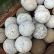 Stock Photo: Stone cannonball