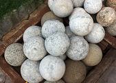 Stone cannonball — Stockfoto