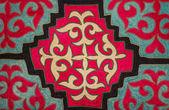 Kazakh felt carpet — Stock Photo