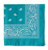 turquoise bandanna  — Stock Photo