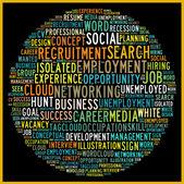 Social recruiting concept — Stock Photo