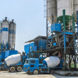 Stock Photo: Concrete mixing tower. Concept of on-site construction facility