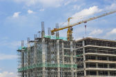 Tower crane and building construction — Stock Photo