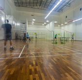 Badminton courts — Stock Photo