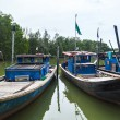 Fisherman boats park — Stock Photo