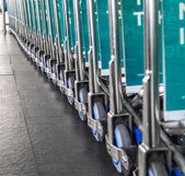 Row of trolley — Stock Photo