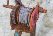 Rusted steel wire rope — Foto Stock