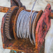 Stock Photo: Rusted steel wire rope