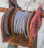 Rusted steel wire rope — 图库照片