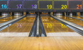 Bowling lane — Stock Photo