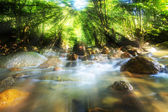 Water stream and sunray — Stock Photo