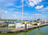 Yatch and sail boats — Stock Photo