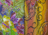 蜡染布纺织 — 图库照片