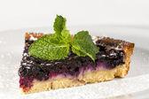 Yaban mersini ile pasta — Stok fotoğraf