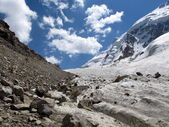 Small Ukju glacier — Stock Photo
