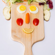 Smiling food face — Stock Photo