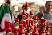 Pinocchio italian wooden puppet — Stock Photo