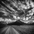 Black and white landscape — Stock Photo