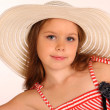 Little girl in a hat — Stock fotografie