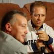 Rocco Siffredi visiting Sergei Pryanishnikov. Rocco Siffredi gives interview for &amp;quot;Sp-Club&amp;quot; ,&amp;quot;Tricolor TV&amp;quot;, interview takes a well-known actor and anchorperson Igor Bubenchikov - Stock Photo