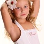 Cute blonde girl posing in studio — Stock Photo #14101485