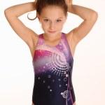 Little gymnast posing — Stock Photo #14658687